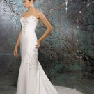 Custom Made- Embroidery Sexy Spaghetti Strap Wedding Bride Dress Cocktail Bridesmaid Ball Prom S2