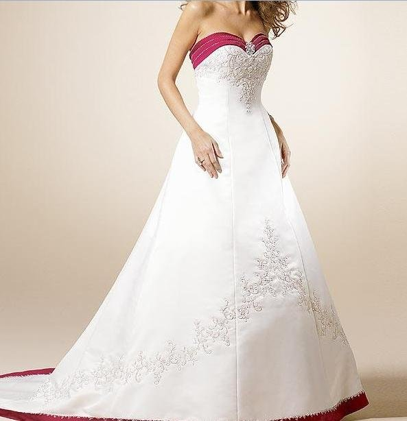 Custom Made-Embroidery Sweetheart Strapless Wedding Bride Dress Cocktail Bridesmaid Ball Prom S5