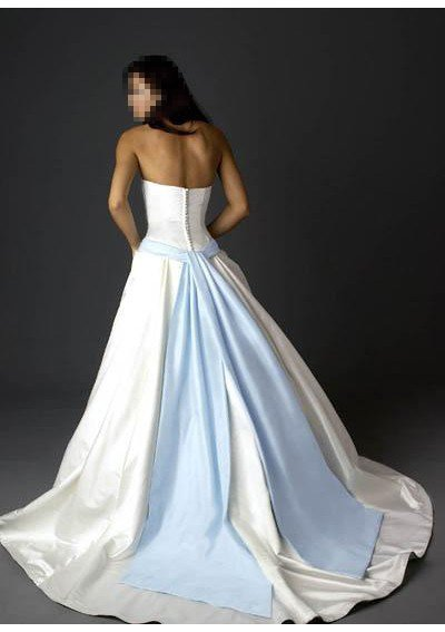 Custom Made- Fake Belt Embellished Strapless Wedding Bride Dress Cocktail Bridesmaid Ball Prom S5