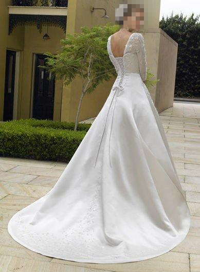Custom Made- Design Three Quarter Sleeve Wedding Bride Dress Cocktail Bridesmaid Ball Prom S2