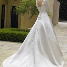 Custom Made- Design Three Quarter Sleeve Wedding Bride Dress Cocktail Bridesmaid Ball Prom S2
