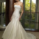 Custom Made- Sexy Embellish Pleat Strapless Wedding Bride Dress Cocktail Bridesmaid Ball Prom S7