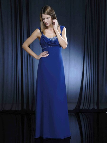 Spaghetti Straps Pleated Formal Evening Dress Prom Bridesmaid Wedding
