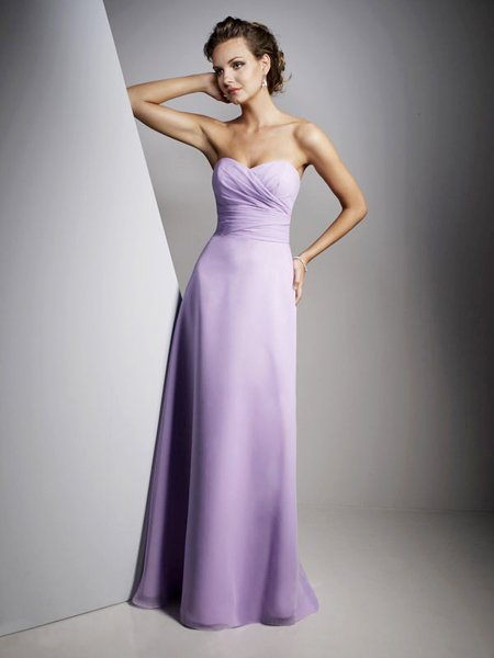 Purple Sweetheart Pleated Vintage Couture Evening Dress Prom Bridesmaid Wedding