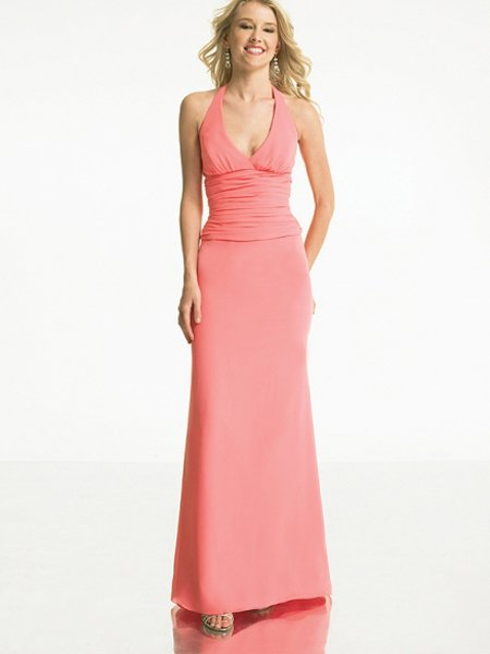 Designer Red Halter Pleated Evening Dress 2011 Prom Bridesmaid Wedding