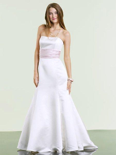 Designer White Strapless Evening Dress 2011 Prom Bridesmaid Wedding