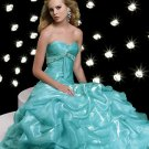 Elegant Hunter Sweetheart Strapless Empire Waist Ball Gown Dress Cocktail Prom Bridesmaid Wedding