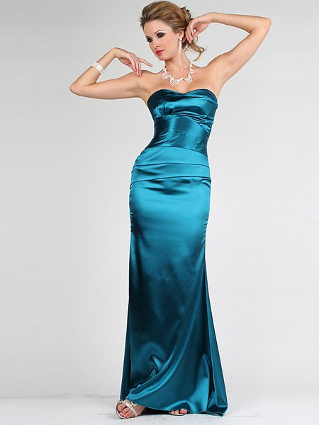 Elegant Hunter Strapless Sweetheart Evening Dress Cocktail Prom Bridesmaid Wedding
