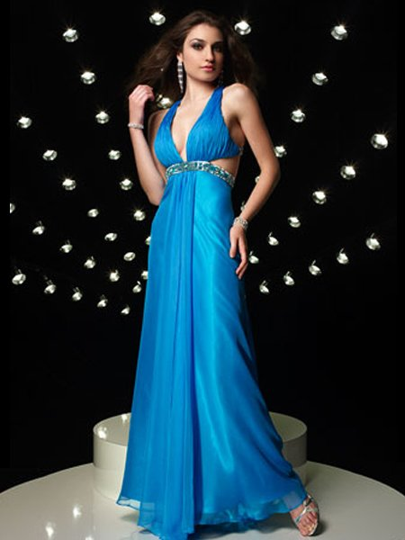 Straps Rhinestone Empire Waist Evening Dress Cocktail Prom Bridesmaid Wedding