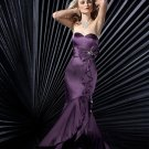 Hot Sale Elegant Grape Strapless Sweetheart Evening Dress Cocktail Prom Bridesmaid Wedding