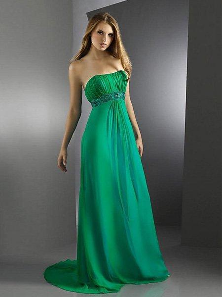 Custom Made-  A2 Elegant Strapless Tube Top Evening Dress Cocktail Prom Bridesmaid Wedding