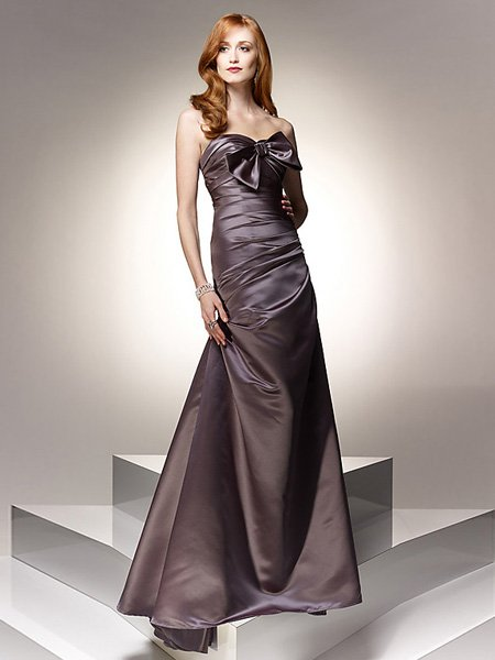 Hot Sale Elegant Brown Strapless Sweetheart Evening Dress Cocktail Prom Bridesmaid Wedding
