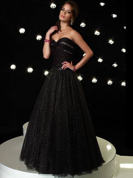 Black Rhinestone Sweetheart Strapless Ball Gown Dress Cocktail Prom Bridesmaid Wedding