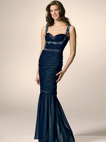Elegant Black Green Spaghetti Straps Sweetheart Evening Dress Cocktail Prom Bridesmaid Wedding