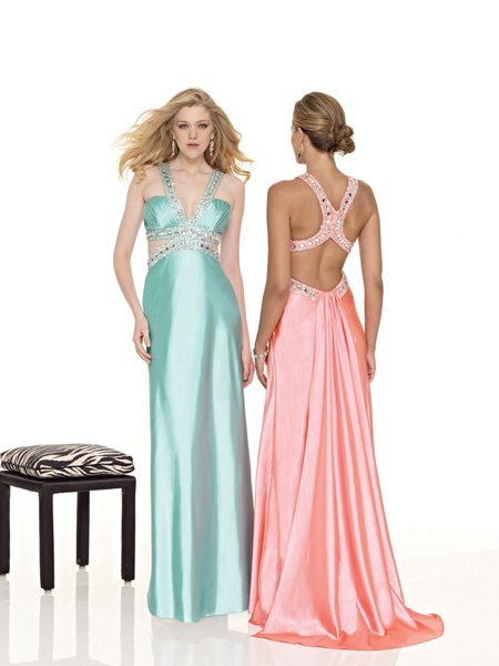 Hot Sale Elegant Beading Wide Sheer Straps Evening Dress Cocktail Prom Bridesmaid Wedding