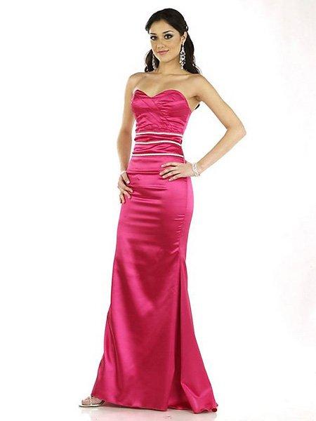 Hot Sale Elegant Light Red Strapless Sweetheart Evening Dress Cocktail Prom Bridesmaid Wedding