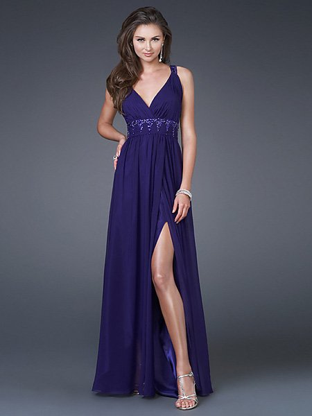 Hot Sale Elegant Grape Spaghetti Straps V Neck Evening Dress Cocktail Prom Bridesmaid Wedding