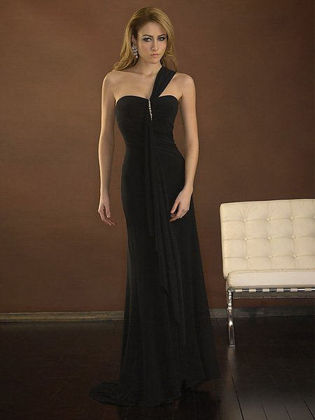 Hot Sale Elegant Black One Strap Sweetheart Evening Dress Formal Cocktail Prom Bridesmaid Wedding