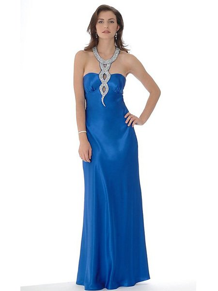 Elegant Royal Blue Strapless Tube Top Evening Dress Formal Cocktail Prom Bridesmaid Wedding