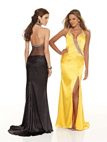 Hot Sale Elegant Halter Rhinestone Opening Evening Dress Formal Cocktail Prom Bridesmaid Wedding