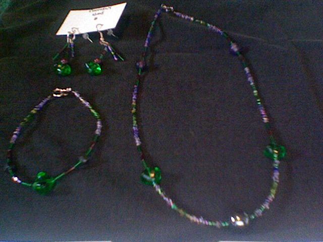 Necklace, Bracelet, and Earring Set