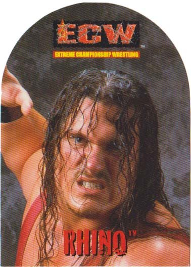 ECW Trading Card Sticker - Rhino