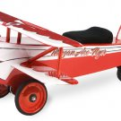Ace Flyer BiPlane Scoot Along Steel Ride on Airplane for kids