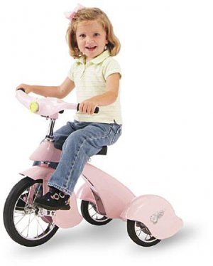 Morgan Cycle Pink Pegasus Tricycle With Working Light Replica of 1934 Van Doren Trike