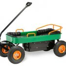 Metal Coach Wagon W Air Tires Footwell & Seat Pads Ride on Toy For Kids
