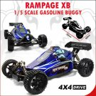 Rampage XB 1/5 Scale Buggy 30cc Gas Powered 2 Stroke Engine 4WD RTR RC Car