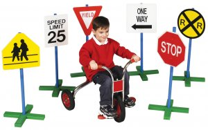 Pretend Play 6 Driving Signs Great for Schools to Teach Kids Safety Or Use W Ride on Toy G3060