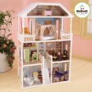 KidKraft Savannah Dollhouse 4 Floors & 13 Pc of Furniture Pretend Play Toy 65023