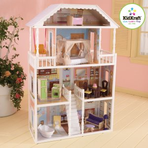 Play Toy Mansion http://www.ecrater.com/p/12964644/kidkraft-savannah-dollhouse-4-floors-13-pc-of