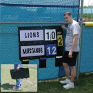 Scoreboard Fence Mounted For Baseball, Softball or Outdoor Sport