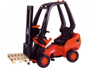 Childrens forklift truck Pedal Truck Ride on Toy For Kids w Working Fork lift