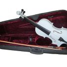 White Violin With Carrying Case Size 4/4 Great For Student