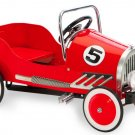Red Pedal Car All Metal Construction Ride on Toy With Adjustable Pedals Age 2-5