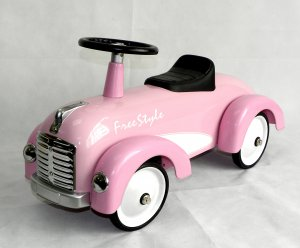 Pink Speedster Ride On Car Scoot Along Toy For Toddlers