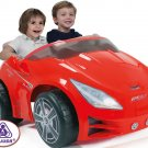 Kids Ride On Toy Injusa Revolution Car Red 2 Seat