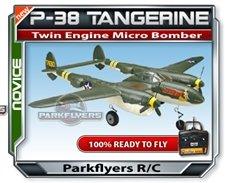 P-38 Tangerine Twin Engine Fighter - RC Airplane RTF RC