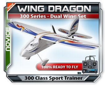 Wing Dragon 300 RTF RC Airplane Includes Two Wing Types