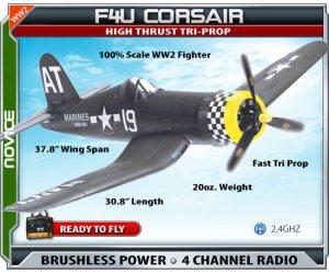 Corsair RTF EPO Electric RC Plane WW2 plane RC Airplane
