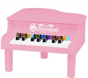 Pink Toddler Size Mini Grand Piano By Schoenhut 189P Kids Musical instrument