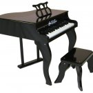 Kids Fancy Baby Grand Piano & Bench & Learning System By Schoenhut 3005B