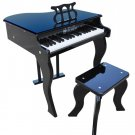Kids Black 37 Key Elite Baby Grand & Bench & Learning System By Schoenhut 372B