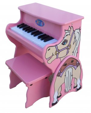 25 Key Horse Piano With Bench Schoenhut Kids Musical Instrument 9258H