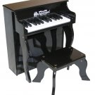 25 Key Elite Spinet Piano A Schoenhut Kids Musical Instrument Black Piano 2505B