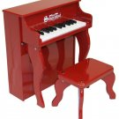 25 Key Elite Spinet Piano A Schoenhut Kids Musical Instrument Red Piano 2505R