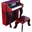 25 Key Elite Spinet Piano A Schoenhut Kids Musical Instrument Mahogany 2505MB