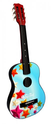 Kids Acoustic Guitar Stars Design W Bag Extra String & Pick 605SG By Schoenhut